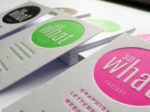 Cartes de Visite letterpress SOWHAT Factory