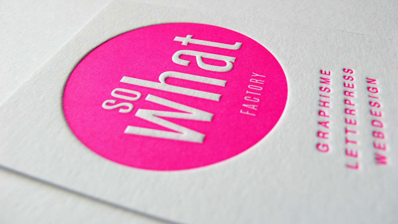 Carte de visite rose fluo - SWF