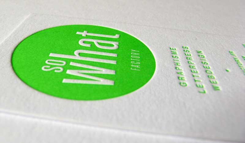 Carte de visite vert fluo - SWF