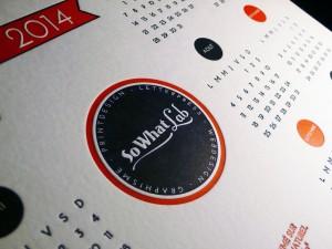 Calendrier letterpress 2014