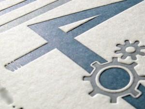 Carte de vœux letterpress 2014 VMP