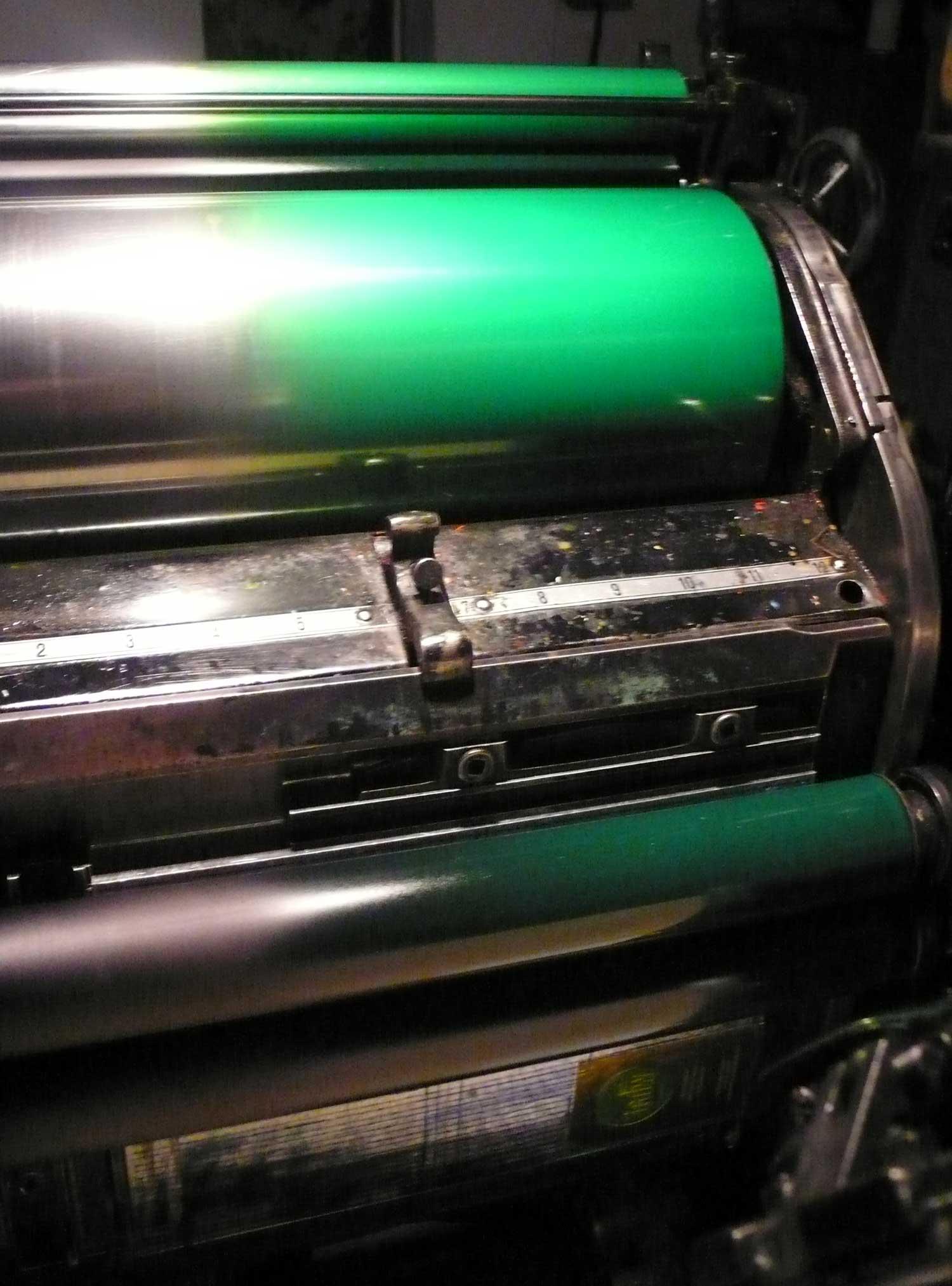 Rouleau OFMI ink-vert détail