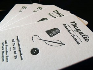 Cartes de visite Magalie Retouches couture