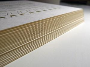 Cartes de vœux letterpress 2015