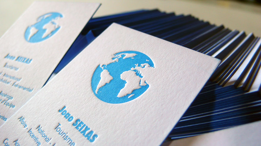 Cartes De Visite Letterpress Joao SEIXAS Tourisme