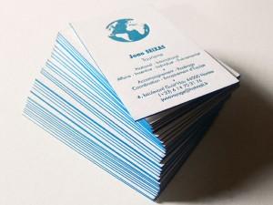 Cartes de visite letterpress de Joao SEIXAS – Tourisme