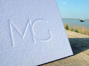 Faire-part de Mariage letterpress MG
