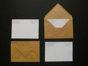 Cartes de correspondance letterpress Airmail