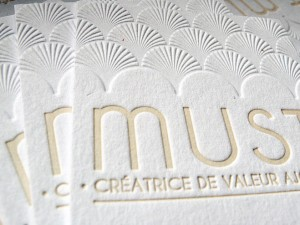 Cartes de visite Letterpress MUST – Architecture et illustration