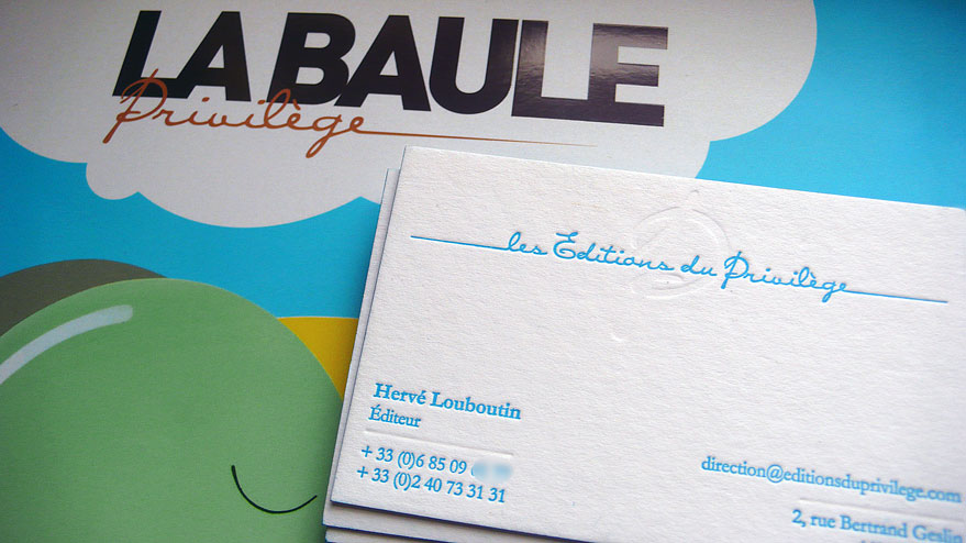 Cartes De Visite Letterpress Pour Les Editions Du Privilege