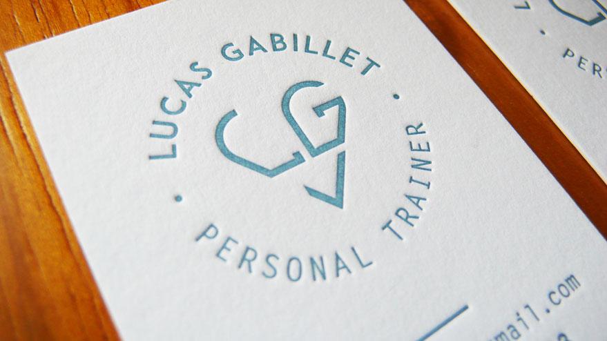 Cartes De Visites Letterpress Lucas Gabillet