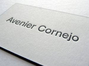 Carte de Visite Letterpress Avenier Cornejo