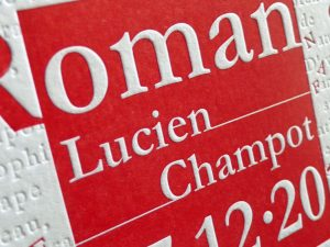 Faire-part de naissance letterpress «Roman»