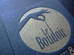 Cartes de visite Or «Le Boudoire»