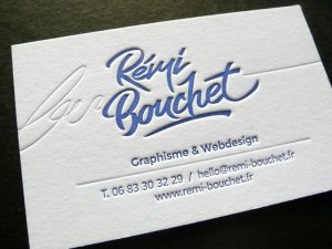 Cartes de visite Rémi Bouchet