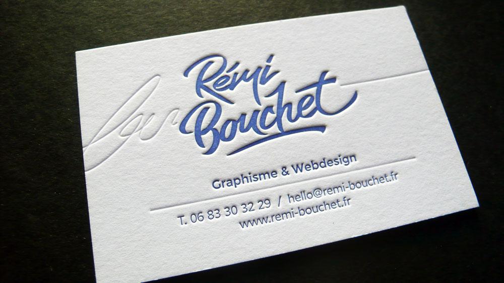 Cartes De Visite Letterpress Remi Bouchet Graphiste
