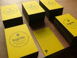 Carte de Visite Letterpress La Griffe