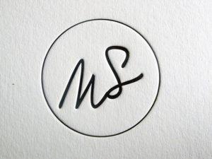 Cartes de vœux letterpress Sébastien Mouraud – Styliste culinaire