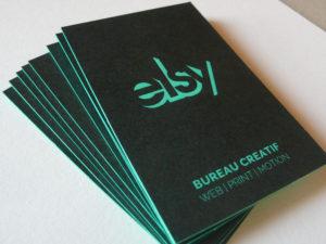 Cartes de visite Elsy letterpress