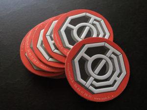 Cartes de visite & badge autocollant letterpress Eoth